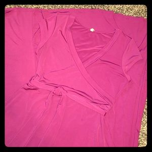 Womens XL, fuchsia, floor length